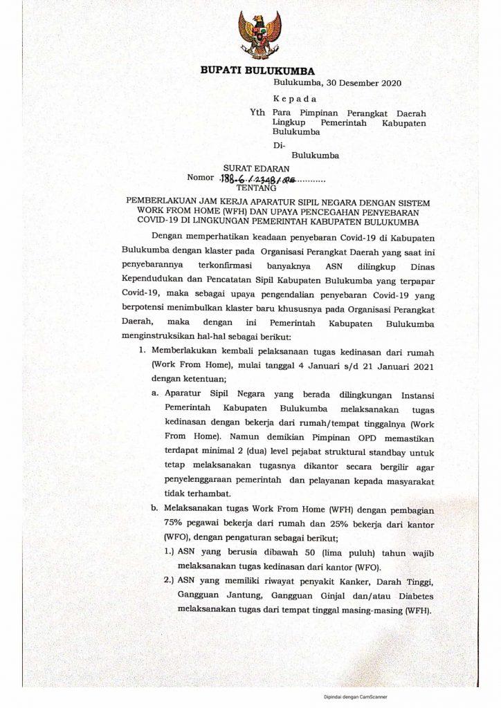 surat Edaran WFH